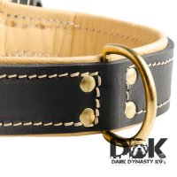 'Pride of Sossa' Nappa Padded Leather Dog Collar