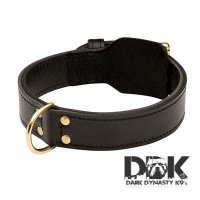 'The Enforcer' Training 2 Ply Leather Dog Collar
