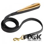 'King Kong' Padded on Handle Leather Dog Leash