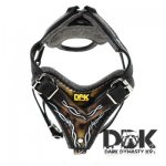 'Zion the Great' Barbed Wire Painted Leather Dog Harness